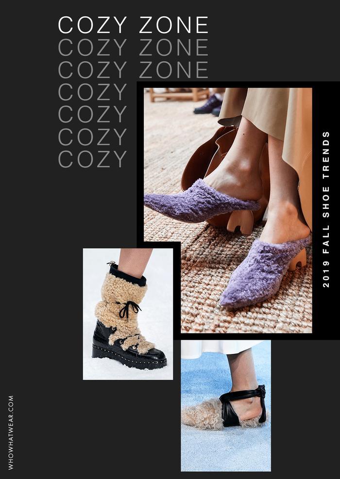 Shearling Shoe Trend Fall 2019