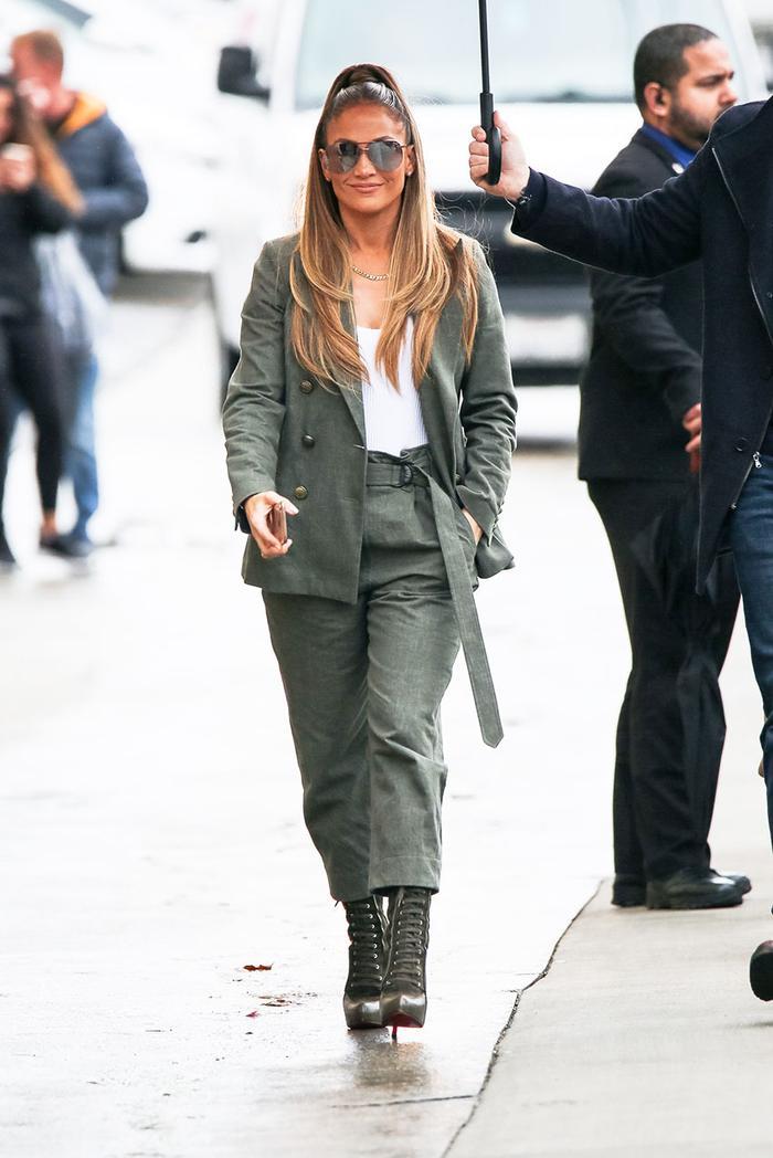 Jennifer Lopez in a suit