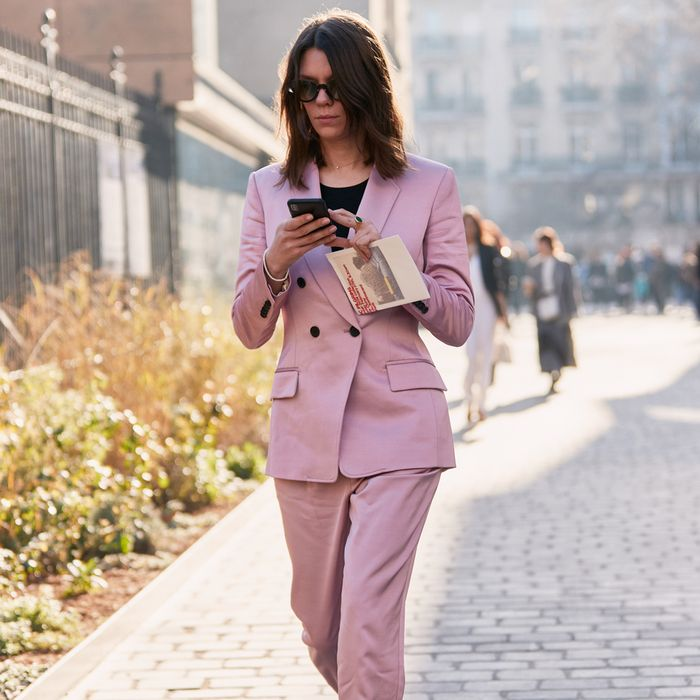 Street Style - Pink Suit