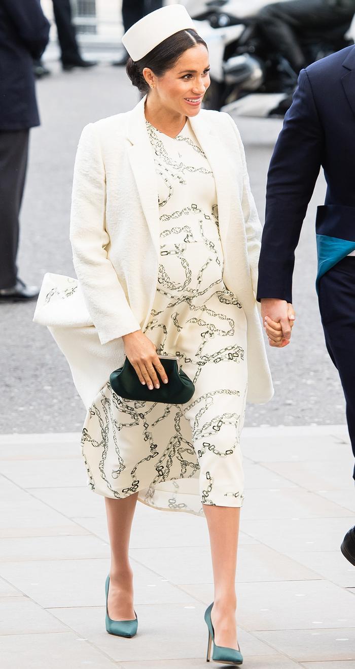 Meghan Markle's chain-print dress