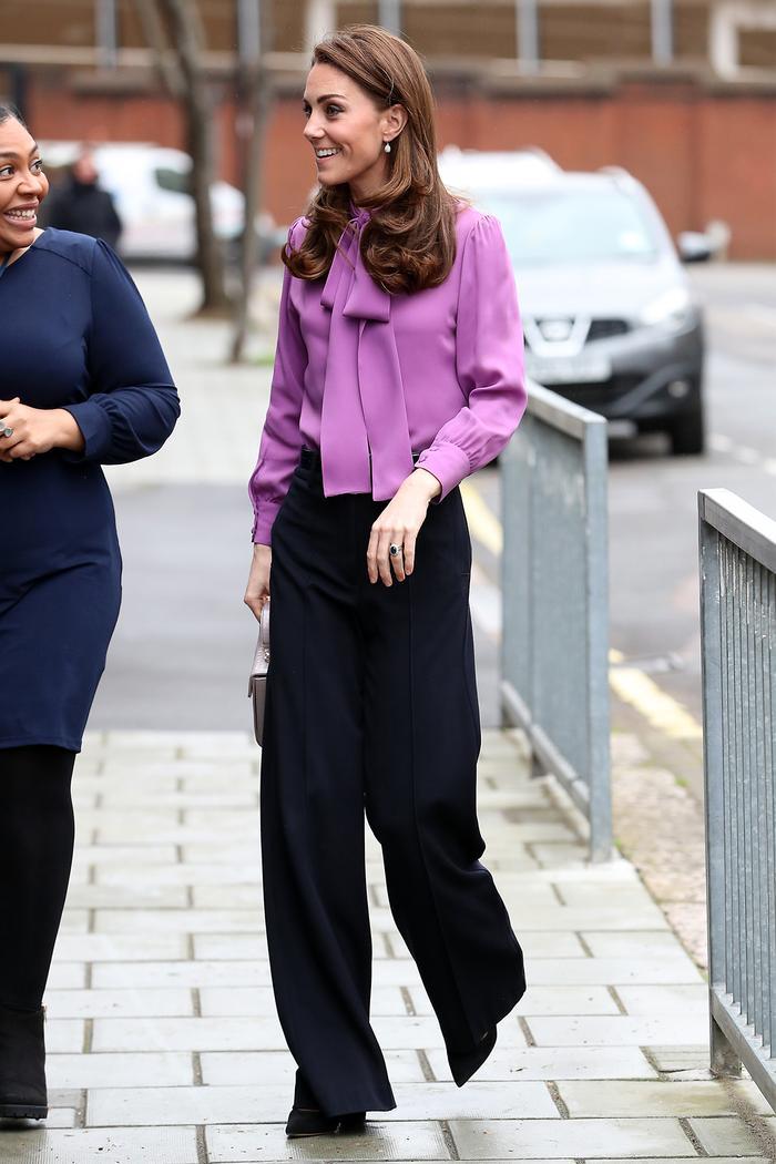 Kate Middleton wearing block heels
