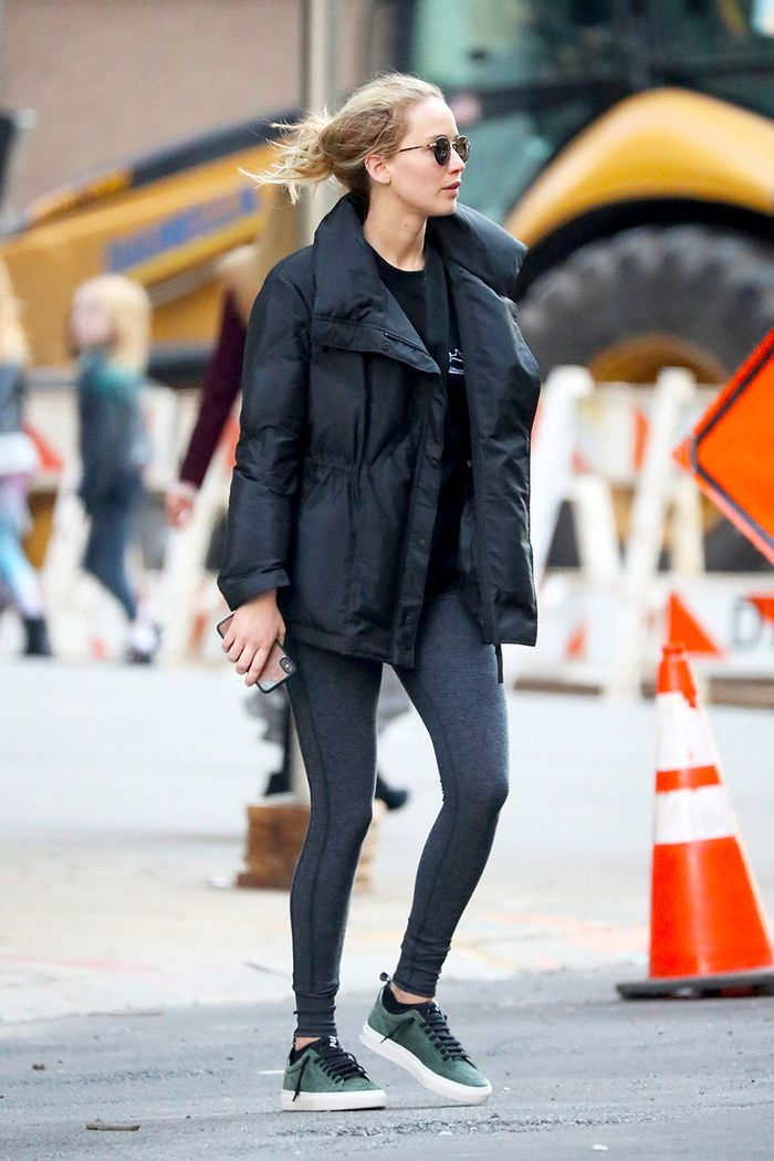 Jennifer Lawrence Alo leggings