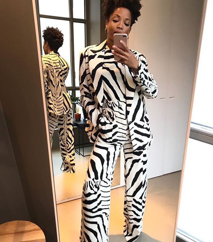 Best H&M items 2019: Slip Into Style wearing a zebra print suit