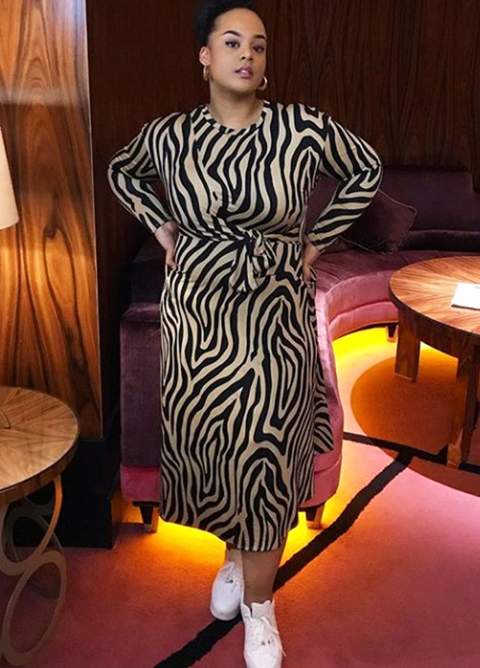 Best zebra print dresses: ASOS curve dress
