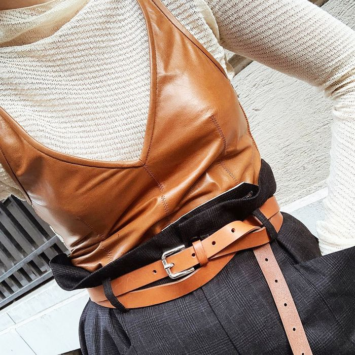 The best spring leather outfits
