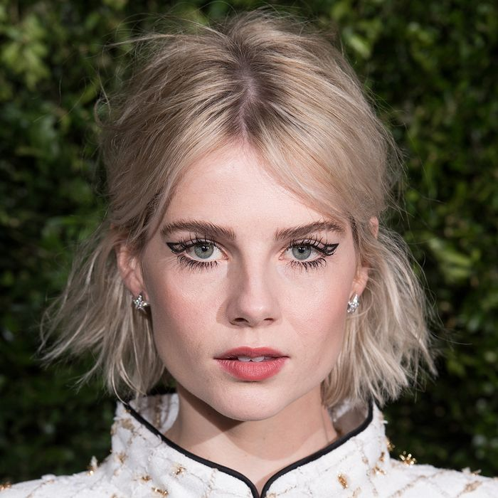 how to go blonde: Lucy Boynton at Charles Finch & Chanel pre-BAFTA's dinner 2019