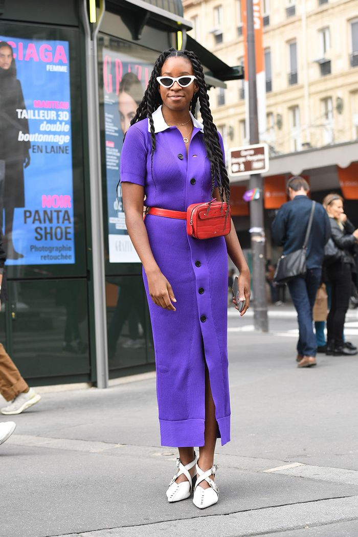 Trends not wear with jeans: Belt Bag Street Style