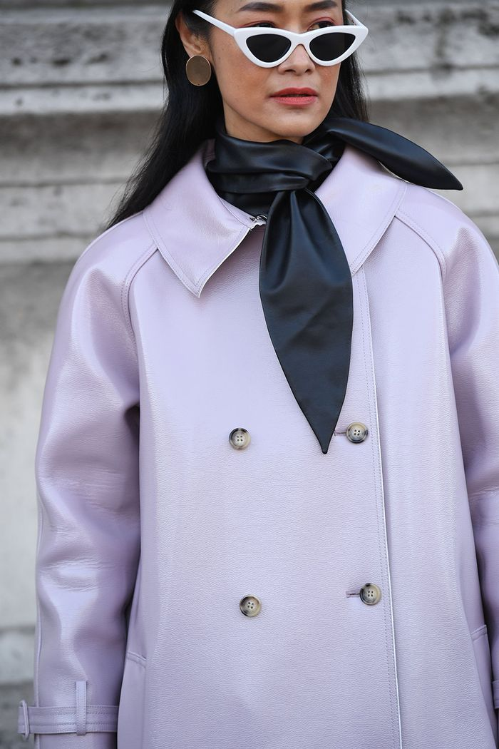 Purple Leather Coat