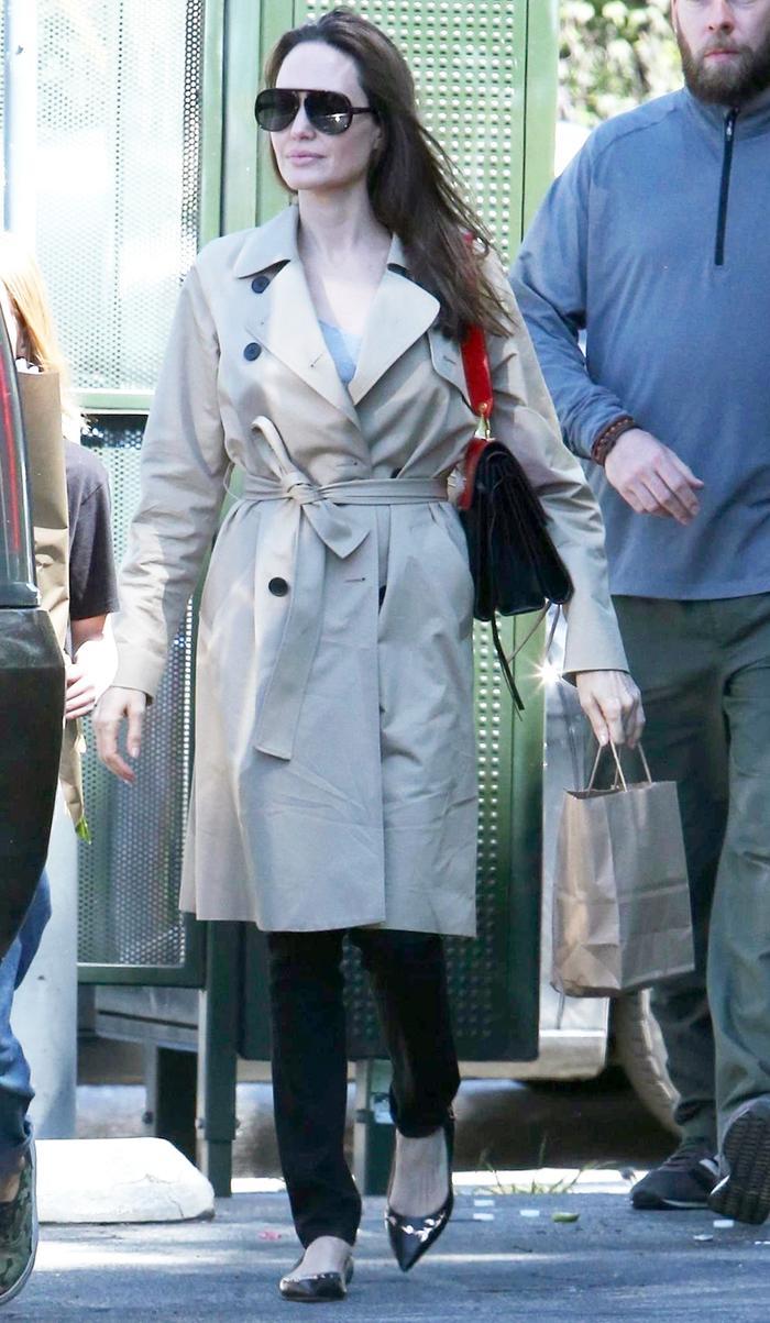 Angelina Jolie Wearing Affordable Everlane Coat