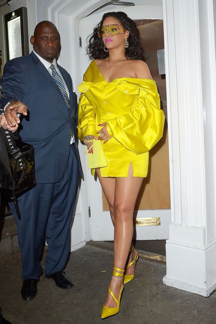 Rihanna yellow outfit