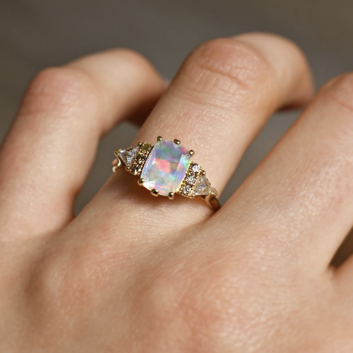 8 Opal Engagement Rings That Are So Unique  Who What Wear