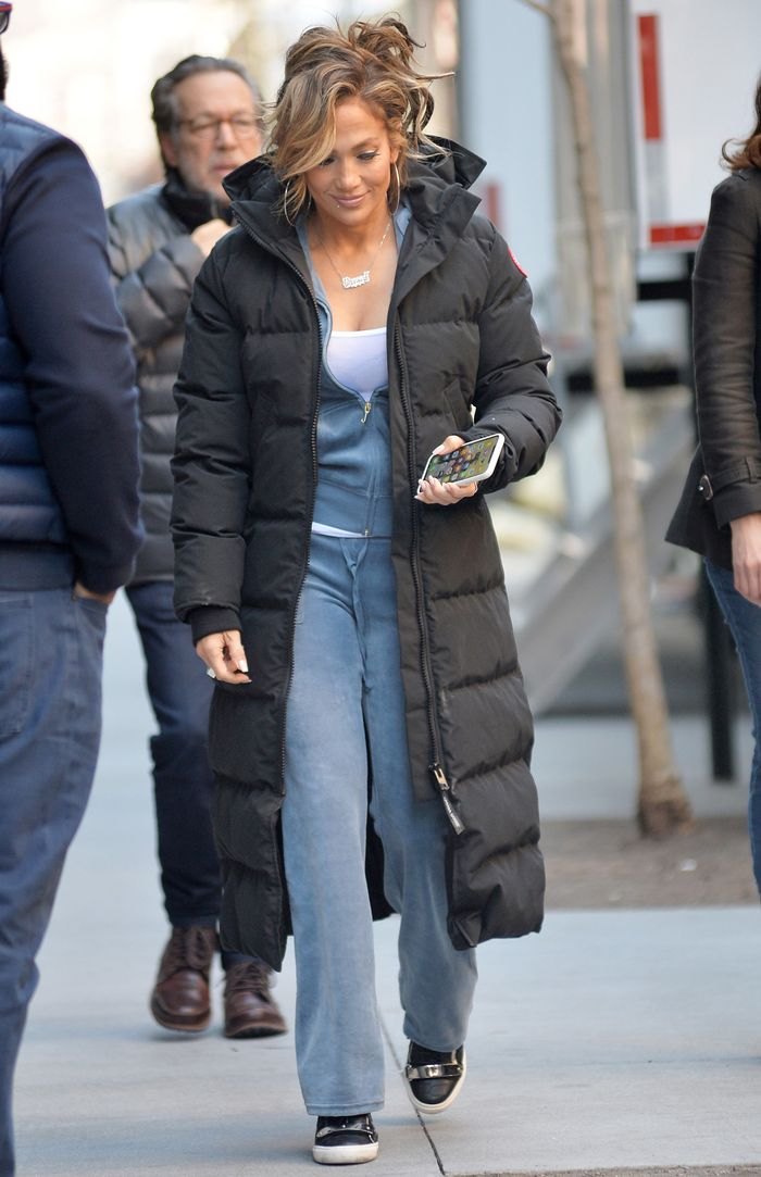Jennifer Lopez Wearing Juicy Couture Tracksuit