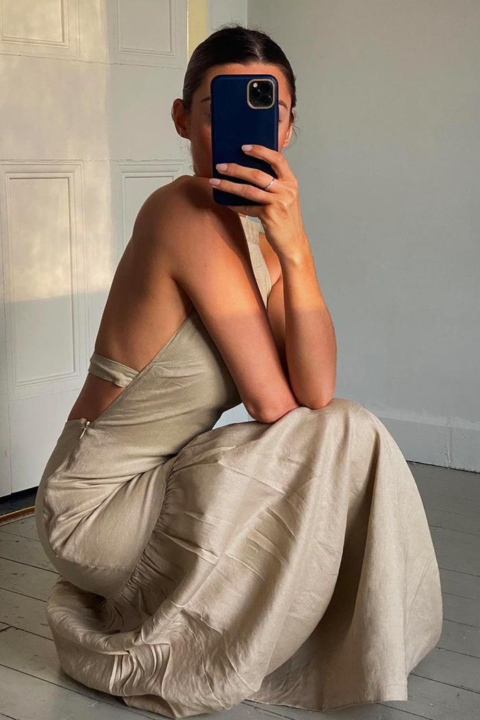 Best Backless Dresses: Marisa Martins in a Topshop Slip Dress