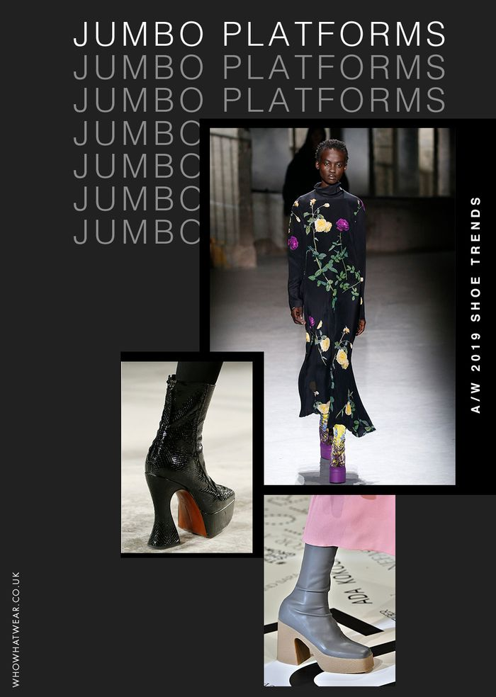 Shoe trends autumn winter 2019: platforms seen at Dries Van Noten, Alexa Chung and Stella McCartney