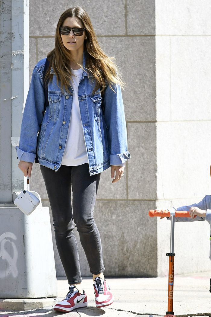Jessica Biel skinny jean outfit