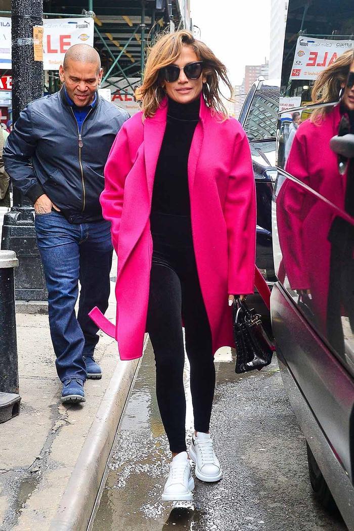 Jennifer Lopez Alexander McQueen Sneakers