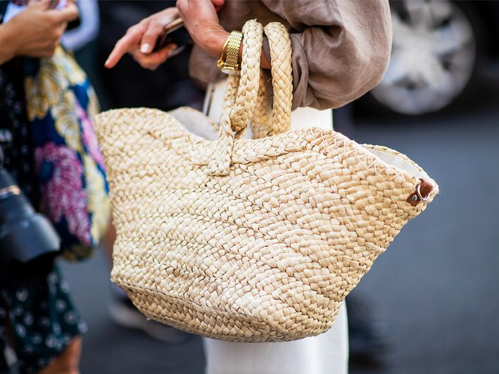 Woven Bag Street Style