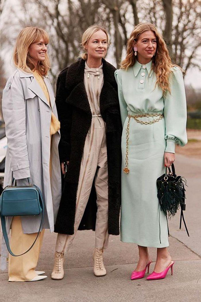 Net a Porter Smart Spends Edit: Street style wearing spring pastels