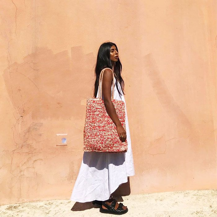 Best Beach Cover Ups: Monikh Wears John Lewis Linen Dress