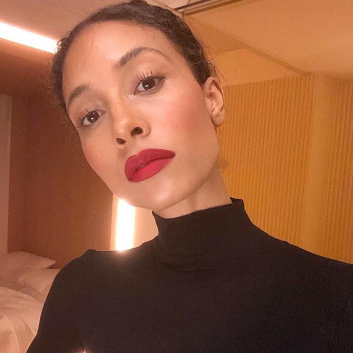 how to wear red lipstick: TyLynn Nguyen Wearing Red Lipstick