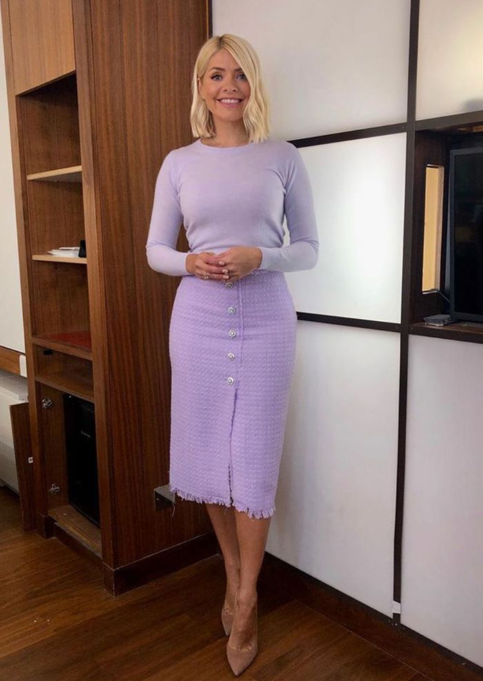 Holly Willoughby Zara tweed skirt: