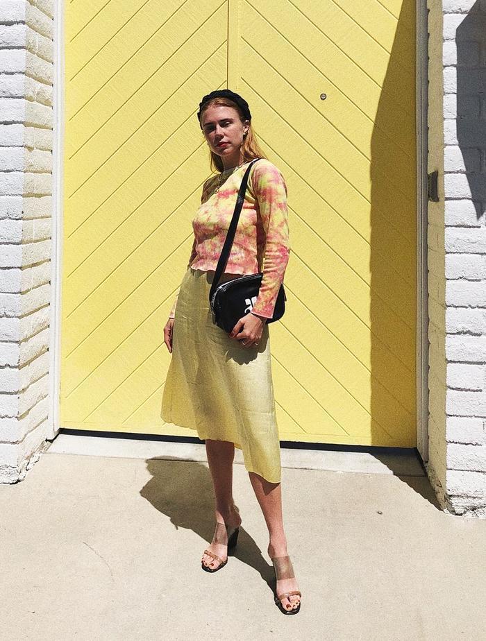 Tie-Dye Fashion Trend: @alwaysjudging in a tie-dye top