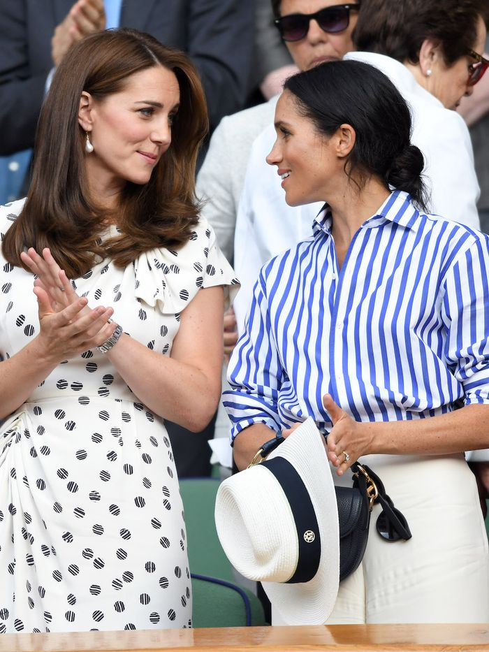 Kate Middleton Meghan Markle Beuti Skincare: Kate and Meghan at Wimbledon