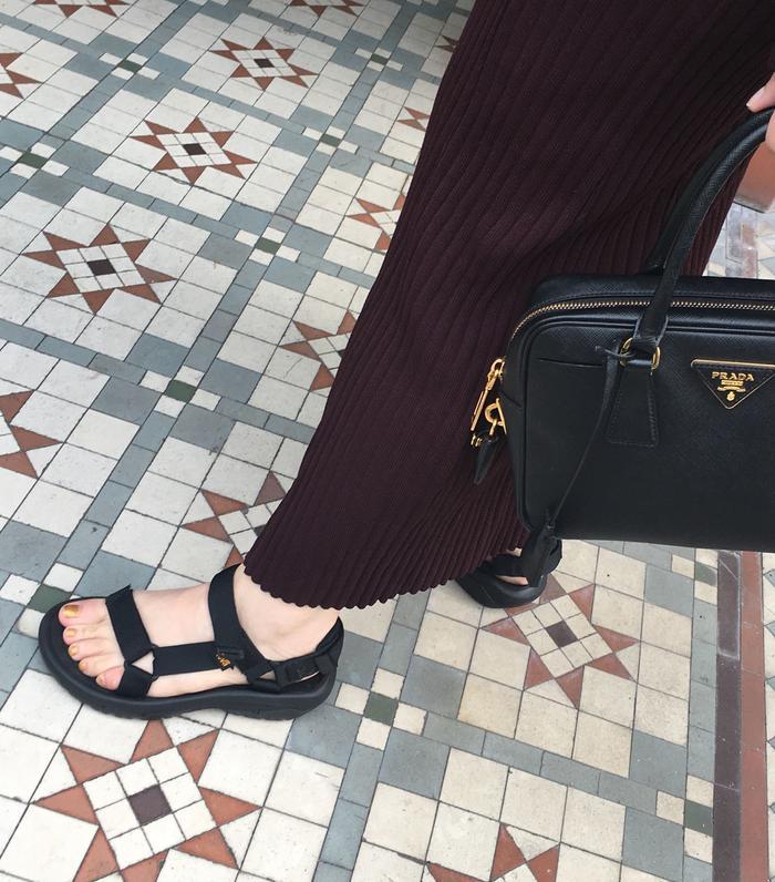Best velcro sandals: hannah almassi