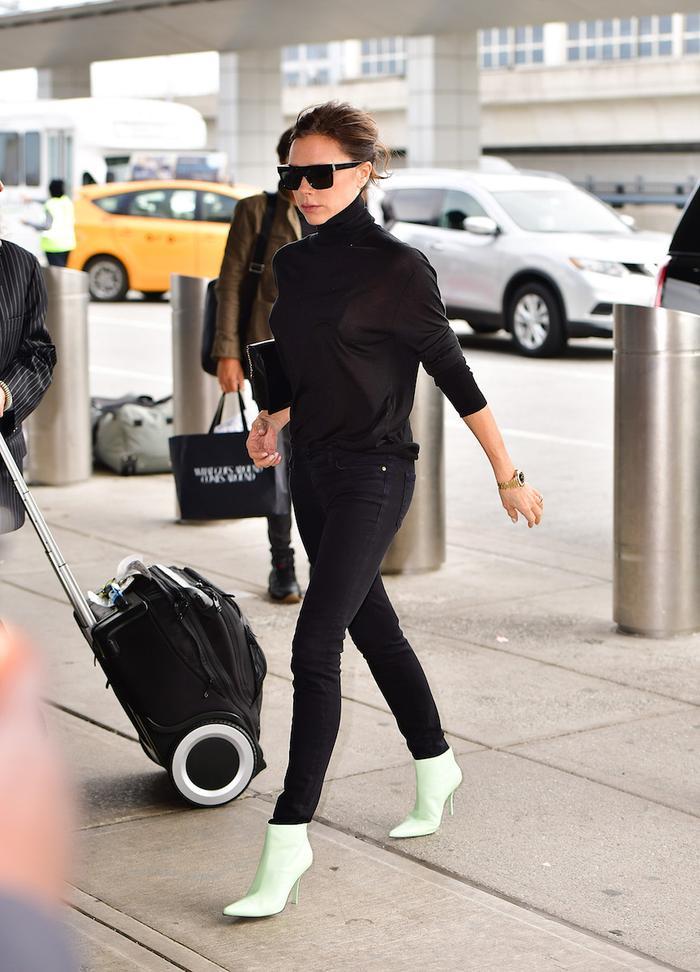 Victoria Beckham Travel Hair Straighteners: VB at New York City airport