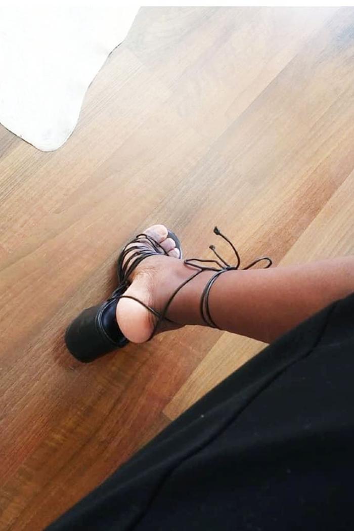 Best Summer Sandals: Sylvie Wears Mango Black Heel Sandals
