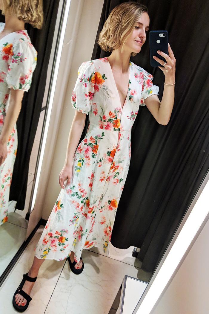 Best Zara items 2019: floral midi dress