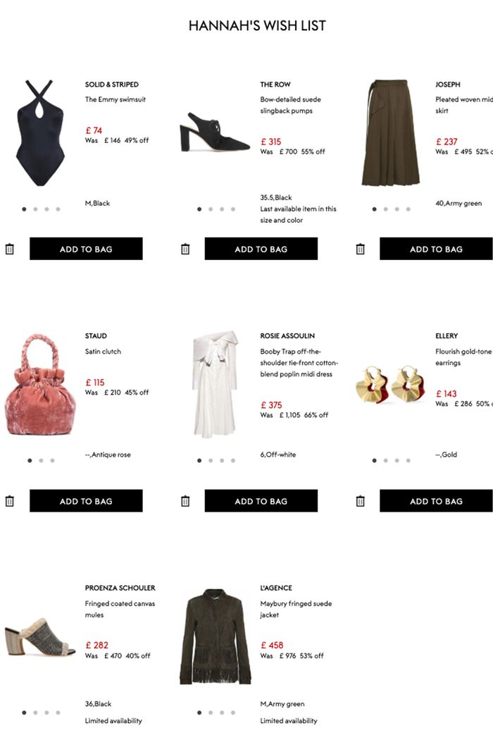 Summer SHopping Baskets: Hannah Almassi The Outnet Wish List