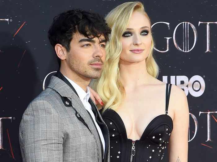 Sophie Turner and Joe Jonas Wedding in Las Vegas Wearing Bridal Pants