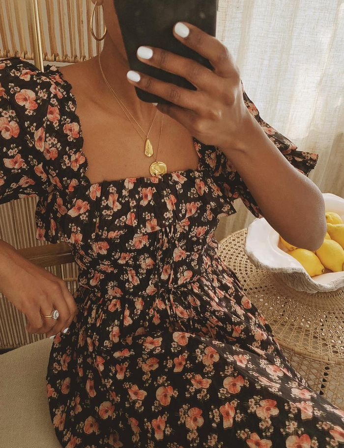 Summer weekend outfits: Monikh in a floral prairie dress
