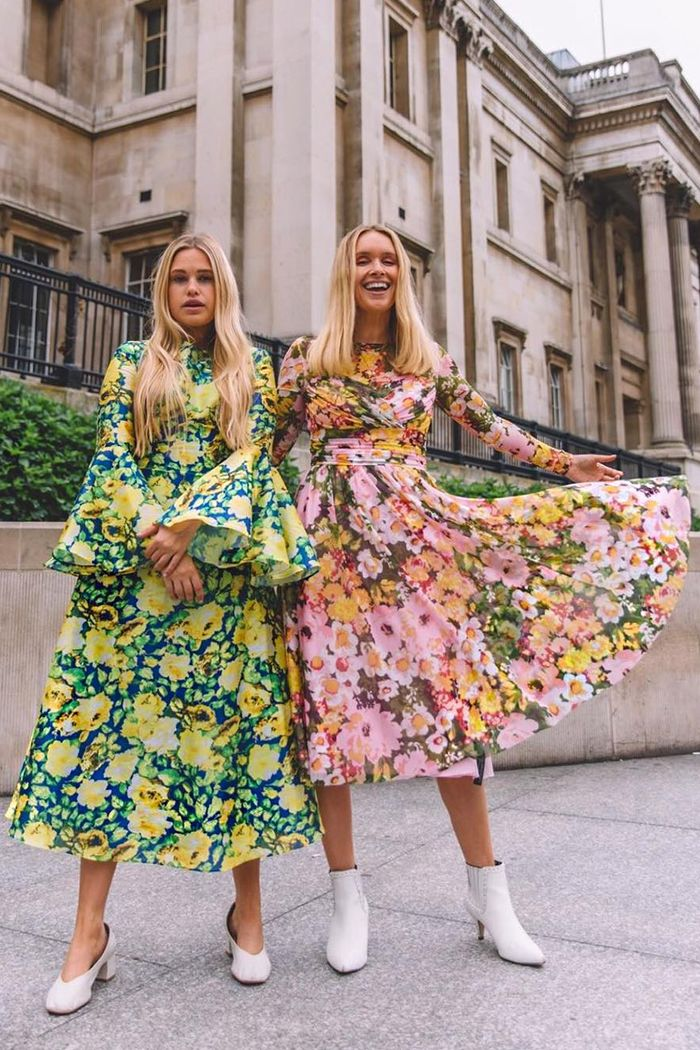 Richard Quinn Debenhams collection: Worn by Olivia and Alice