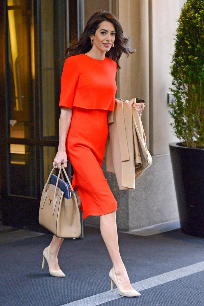 Amal Clooney style basics: sheath dresses