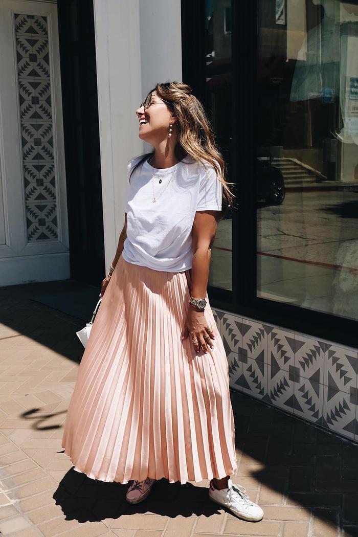 Melissa Meyers Pleated Skirt