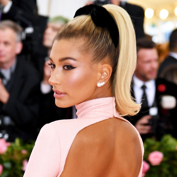 Hailey Bieber Just Wore a G-String Thong Dress to the Met Gala
