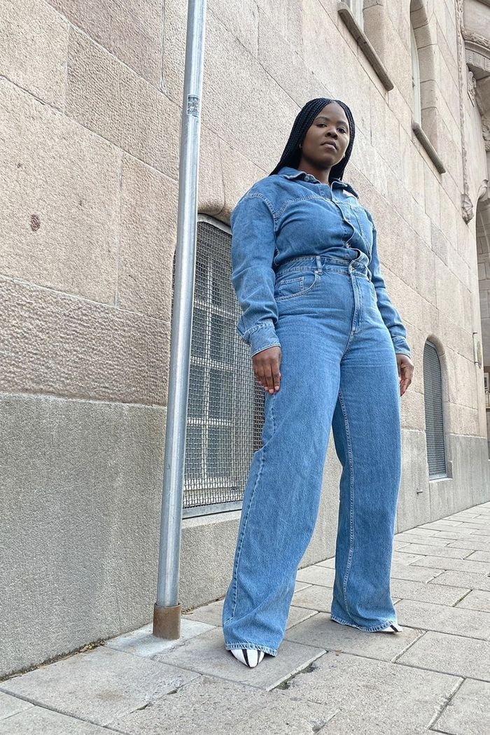 Double denim outfits: wear with shirt