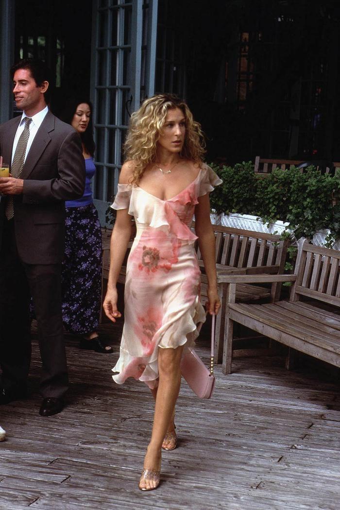 Carrie Bradshaw Ruffled Dress
