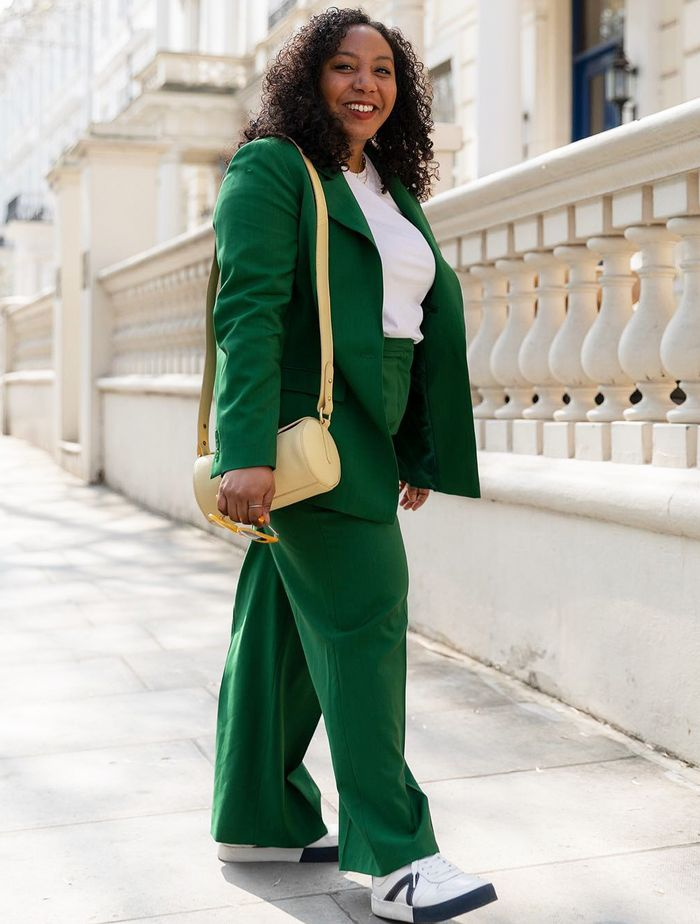 30 Epic Summer Shopping Picks From & Other Stories, John Lewis and Arket: Nicole Ocran in a green John Lewis & Partners suit