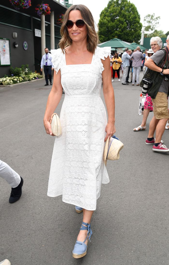 Best broderie anglaise pieces: Pippa Middleton white dress