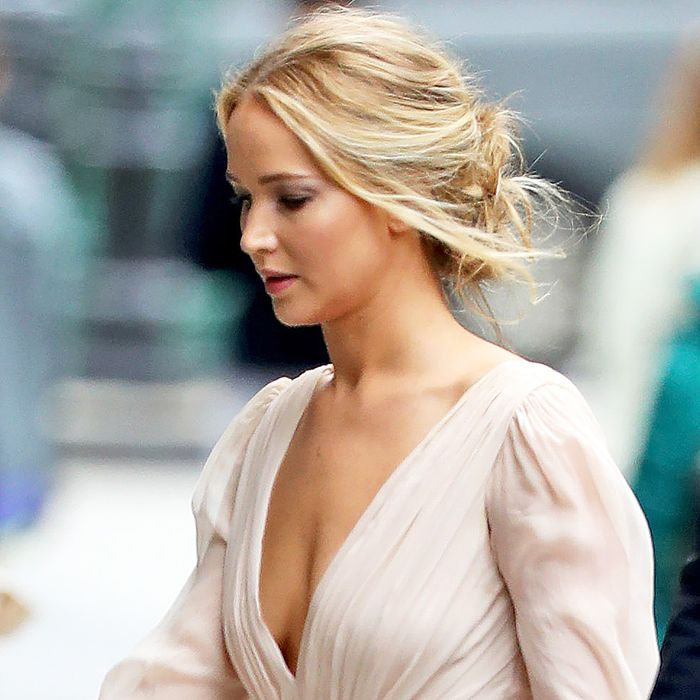 Jennifer Lawrence Wore the Prettiest Wedding Dress to Her Engagement Party
