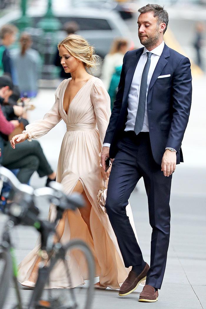 Jennifer Lawrence engagement party dress