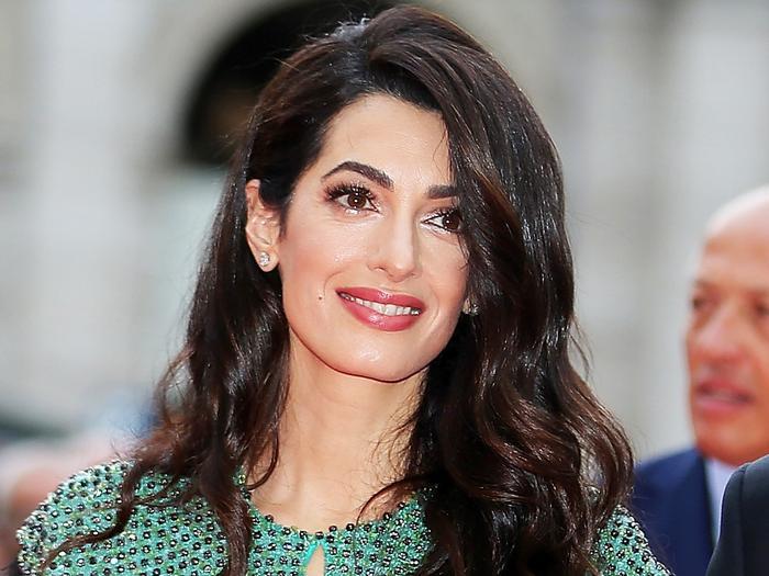 Amal Clooney Wearing a Sheer Corset Dress
