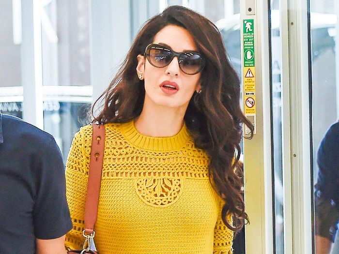 Amal Clooney Wore Unexpected Shoes to the Airport