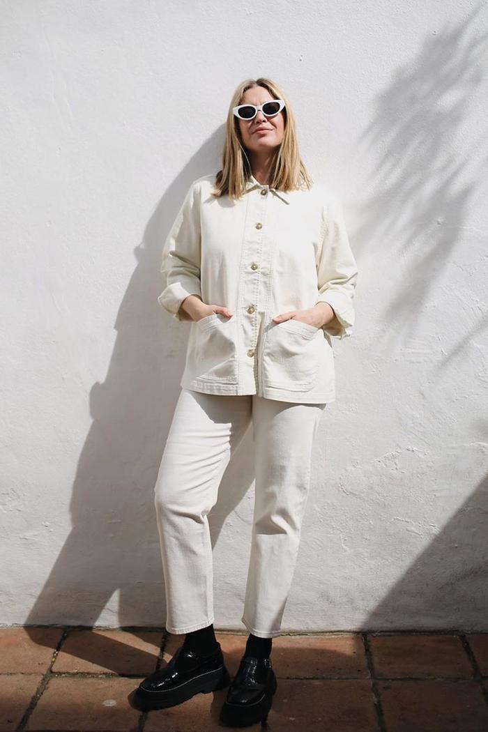 Best summer jackets 2019: Alexis Foreman in workwear jacket