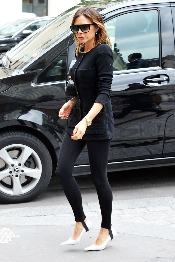 Victoria Beckham all-black outfit