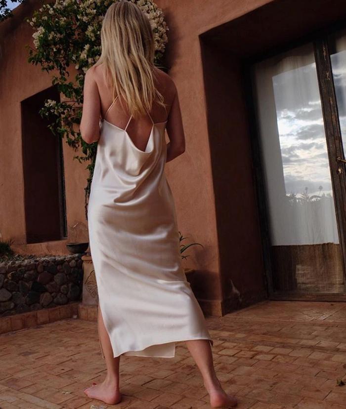 New minimal brands 2019: slip dress by Deveaux