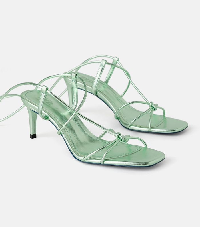 Zara Blue Collection Strappy Sandals